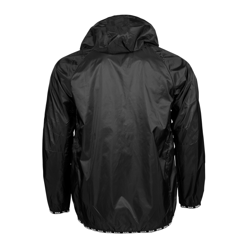 Nylon Windbreaker Black Back