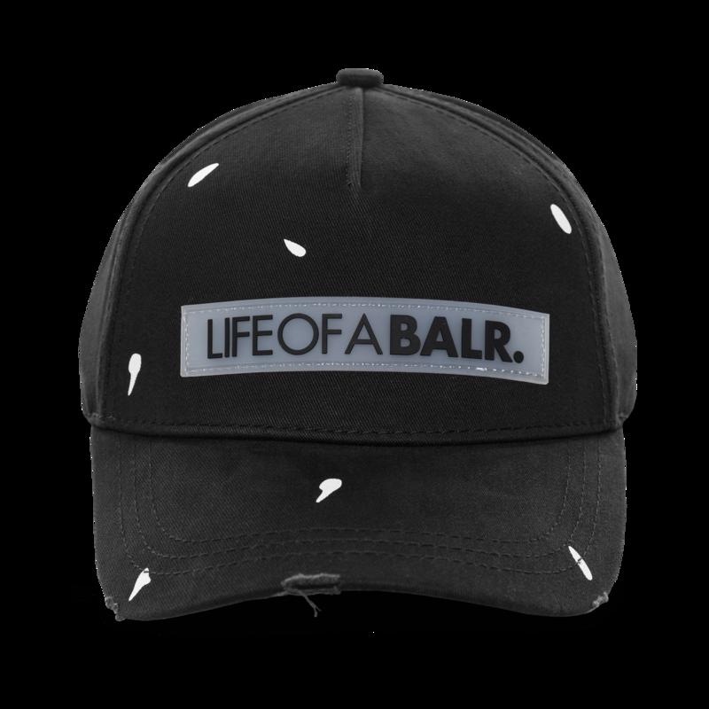 LIFEOFABALR. Paint Splatter Classic Cap Black