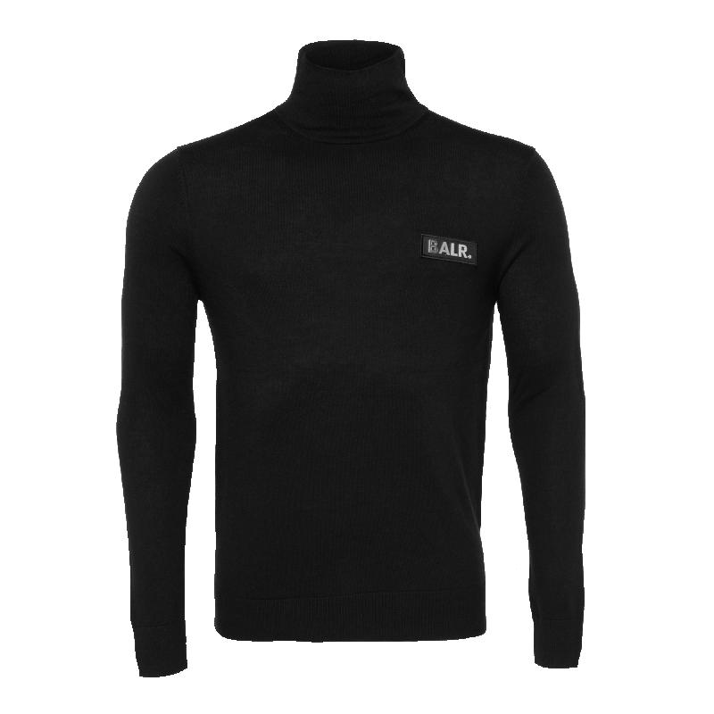 Badge Turtleneck Sweater Black