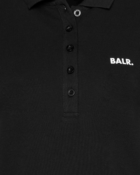 Brand Polo Shirt Women Black Detail2