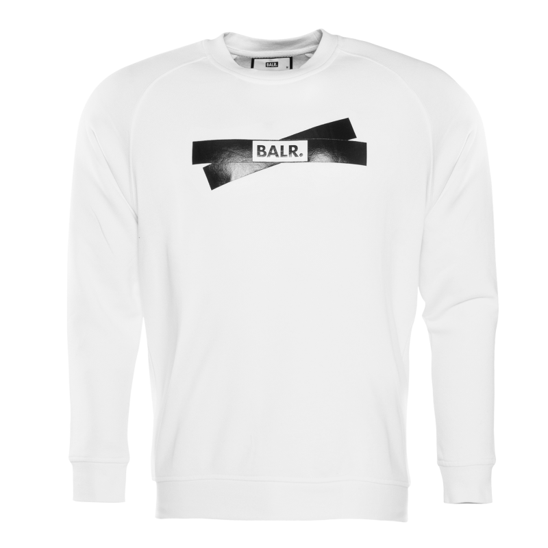 Tape Logo Crewneck Sweater White Front