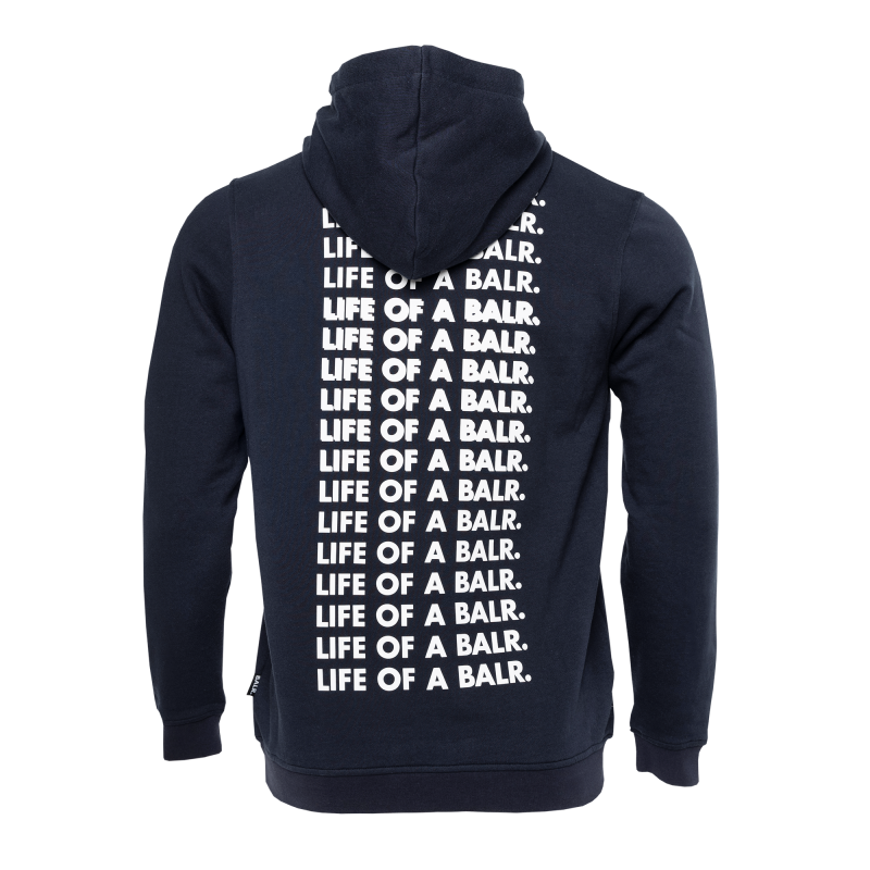 Life Of A BALR. Hoodie Navy Blue