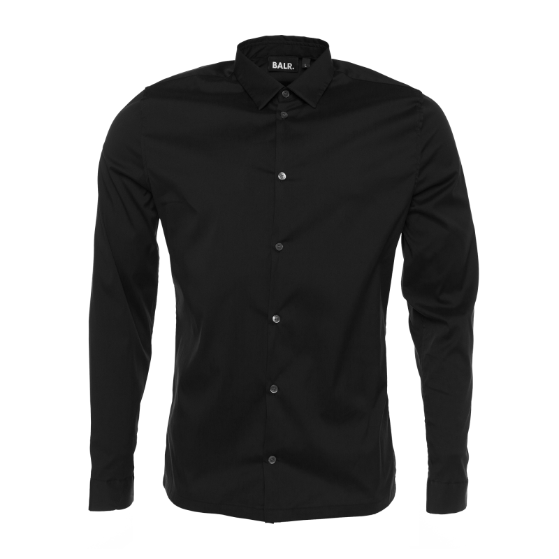 Slim-Fit Formal Shirt Black
