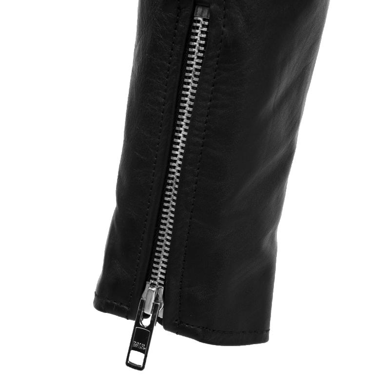 Leather Biker Jacket Zipper