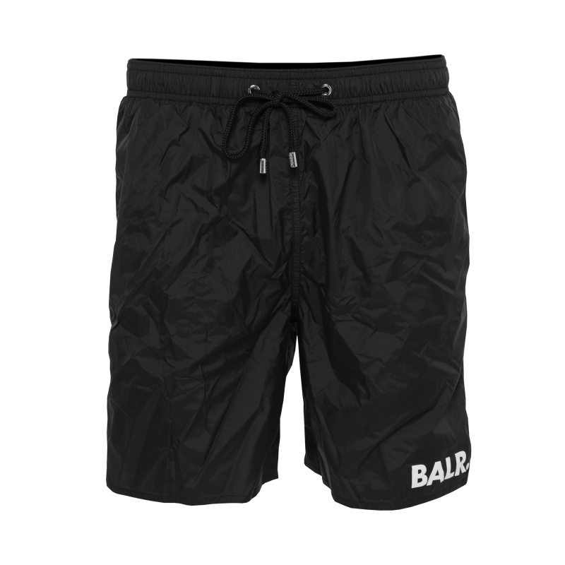 BALR. Mid-Length Swim Shorts Black