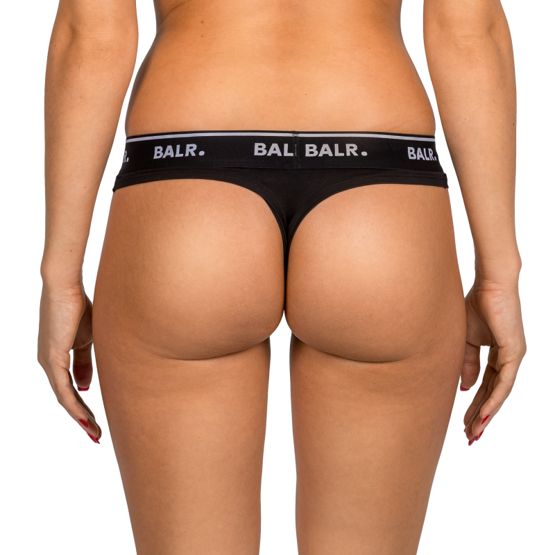 2-Pack Black Thong Back On Model