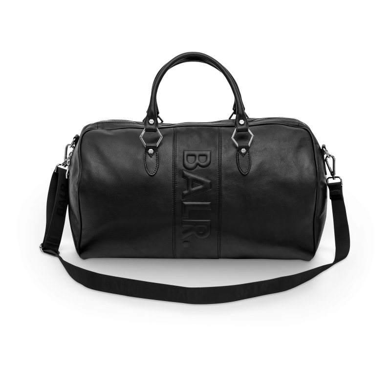Leather Weekender Front
