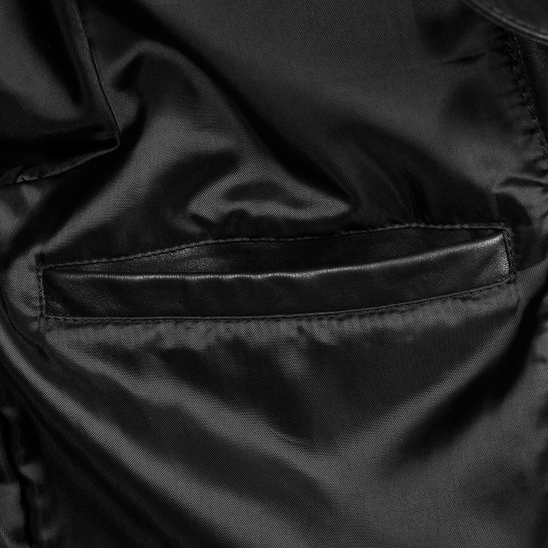 Leather Bomber Jacket Inner Pocket