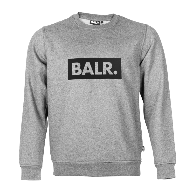 Grey Crew Neck Club Sweater Front