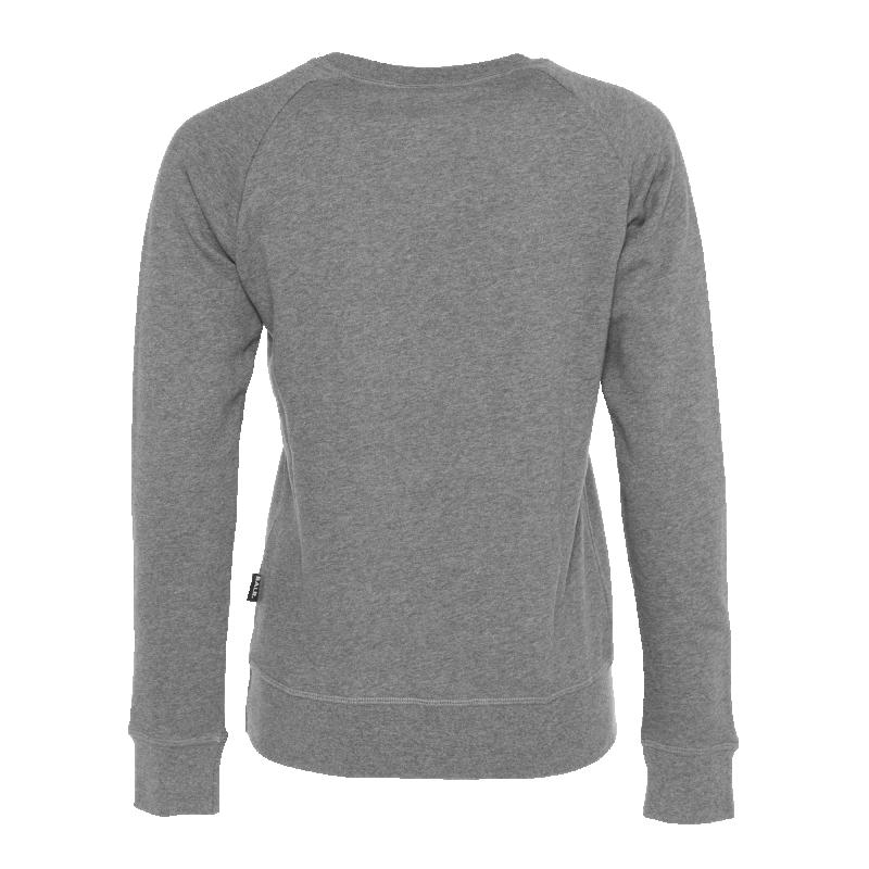Achterkant Women Brand Crew Neck Sweater Grijs