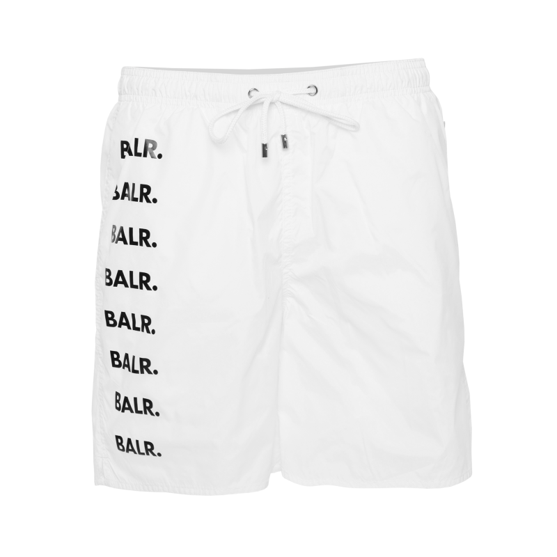 Brand Repeat Swim Shorts White