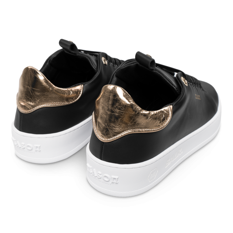 Achterkant BALRxMasonGarments Roma Sneakers Zwart