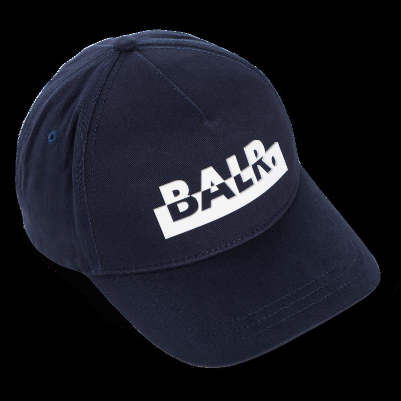 Contrasting Logo Cap Navy