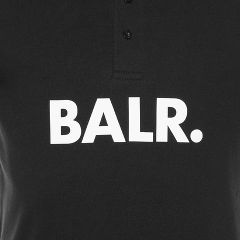 BALR. big logo polo shirt Black