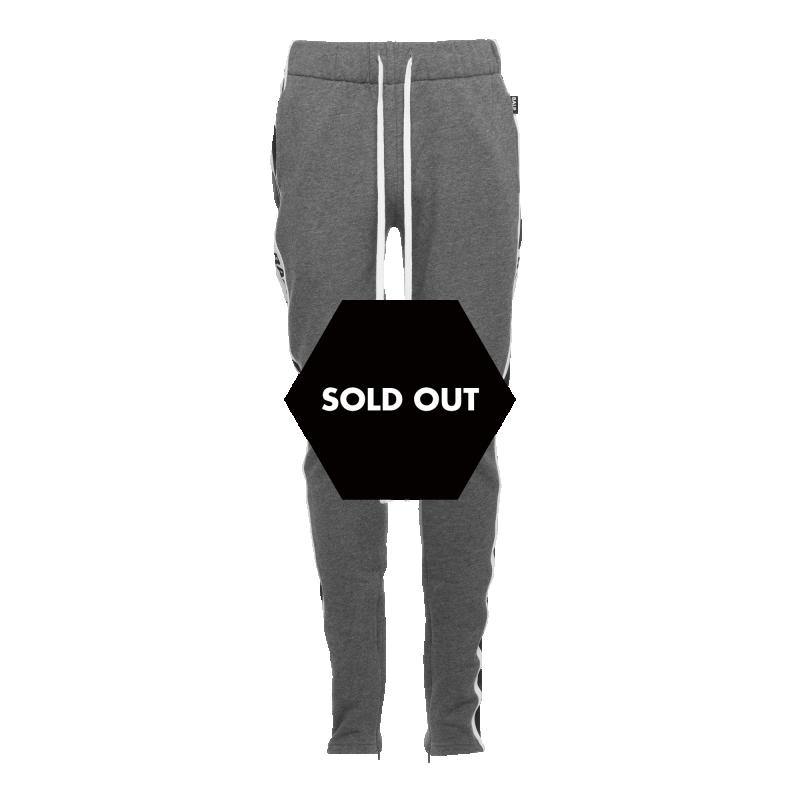 Webbing-Trimmed Sweatpants Grey