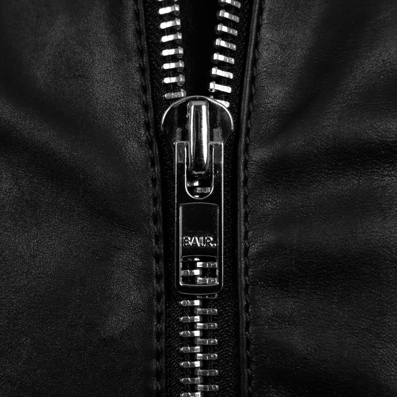 Leather Bomber Jacket Zipper
