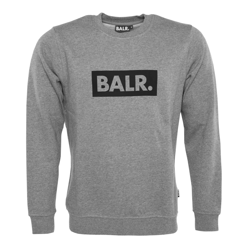 Brand Club Crew Neck Sweater Grey