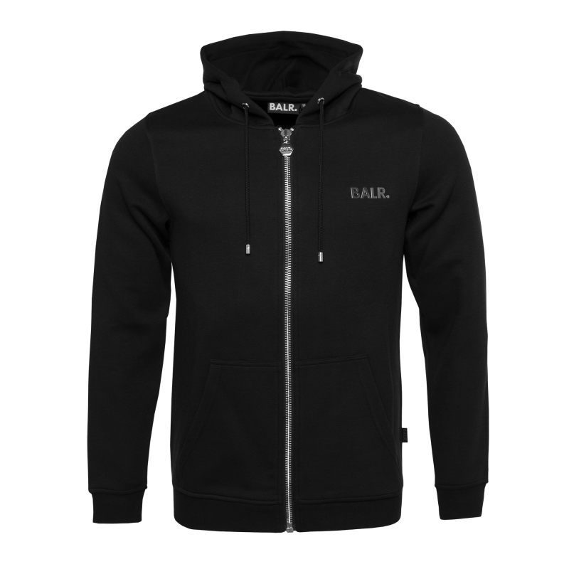 BALR. Q-Series Zipped Hoodie Black Front