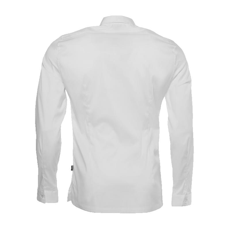 White Slim-Fit Formal Shirt Back