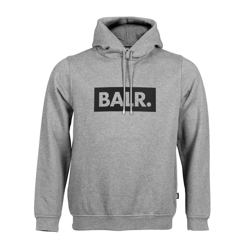 Grey Club Hoodie With Black Text Front