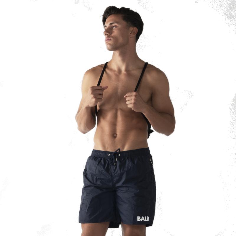 BALR. Mid-Length Swim Shorts Navy Lifestyle
