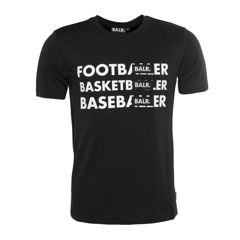 BL - Footballer Badge T-Shirt Black