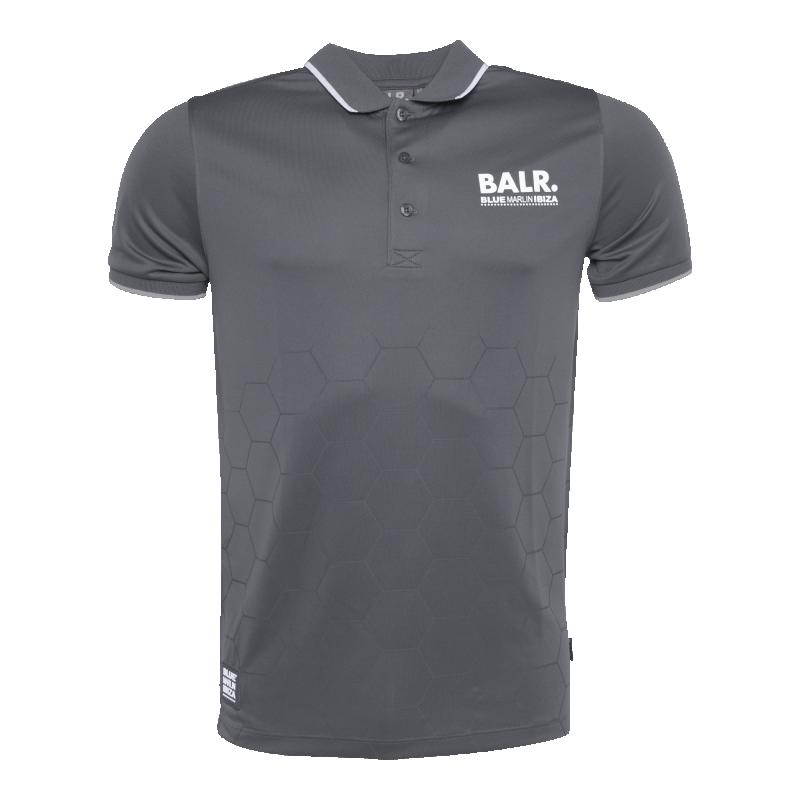 BALR. x BMI Hexagon Polo Shirt Grey