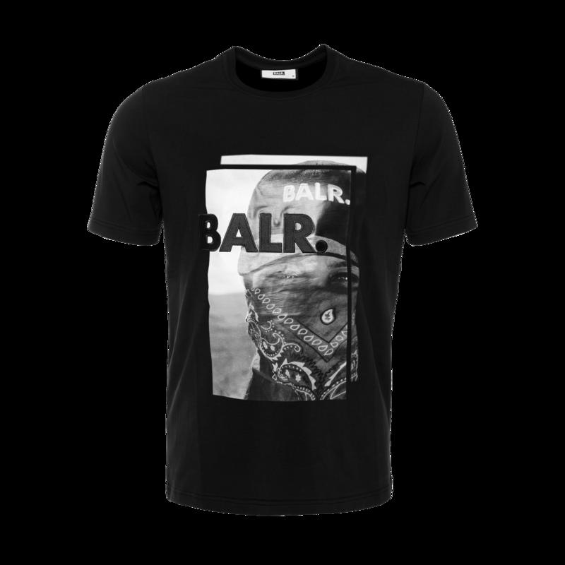 BALR. Black Label - Bandana T-Shirt Black