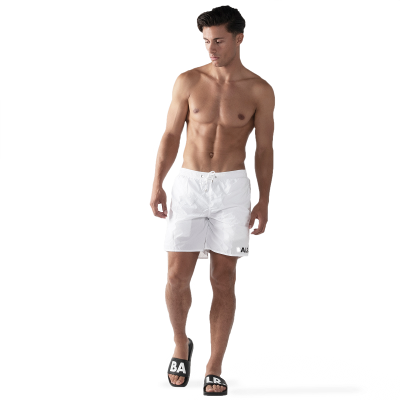 BALR. Mid-Length Swim Shorts White Lifstyle
