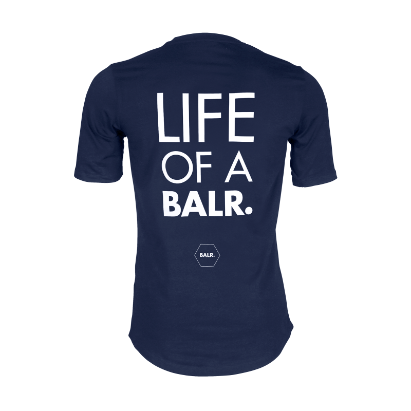 Navy Blue Life of a BALR. Shirt Back