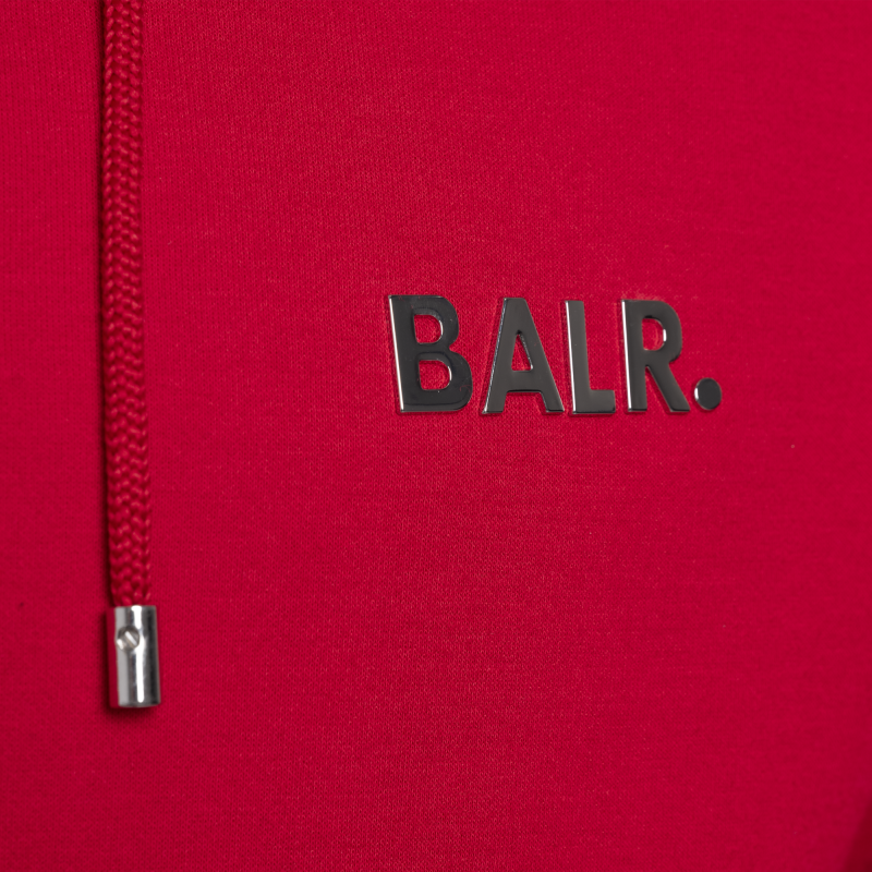BALR. (BALR.)RED Q-Series Zipped Hoodie Red Detail 3
