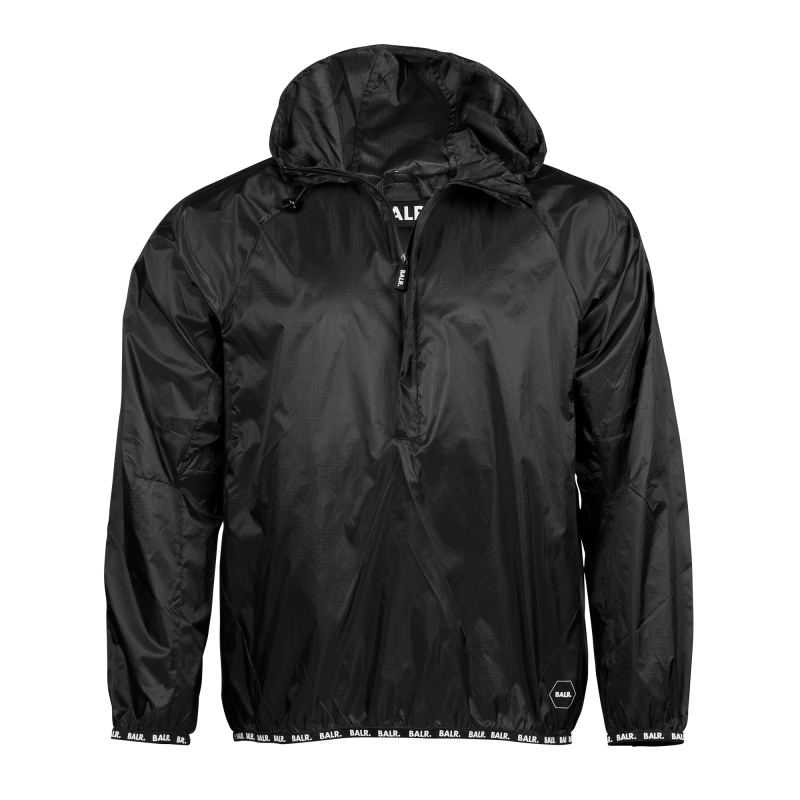 Nylon Windbreaker Black Front