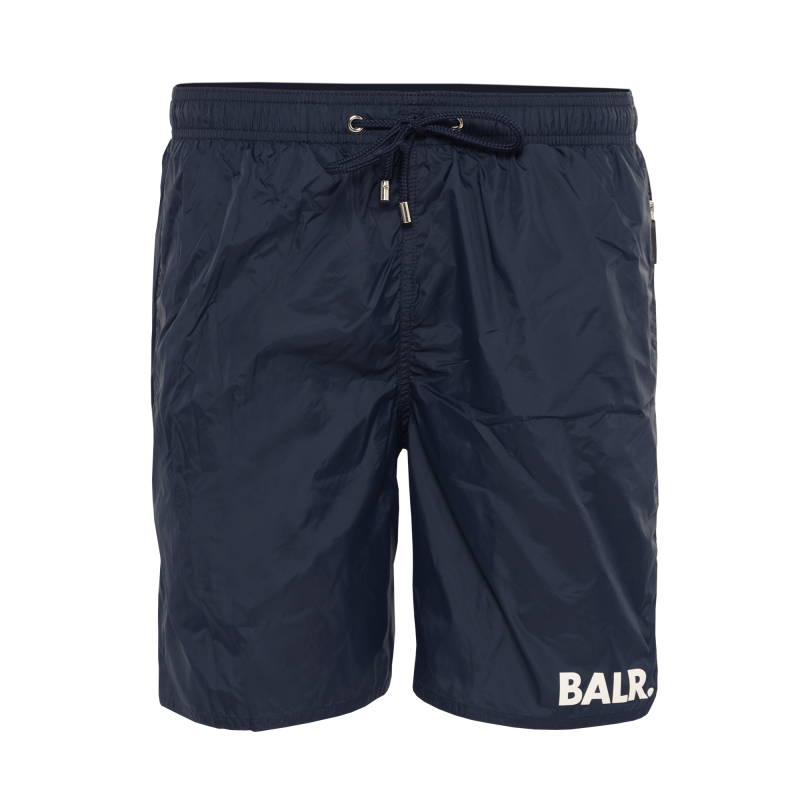 BALR. Mid-Length Swim Shorts Navy Front