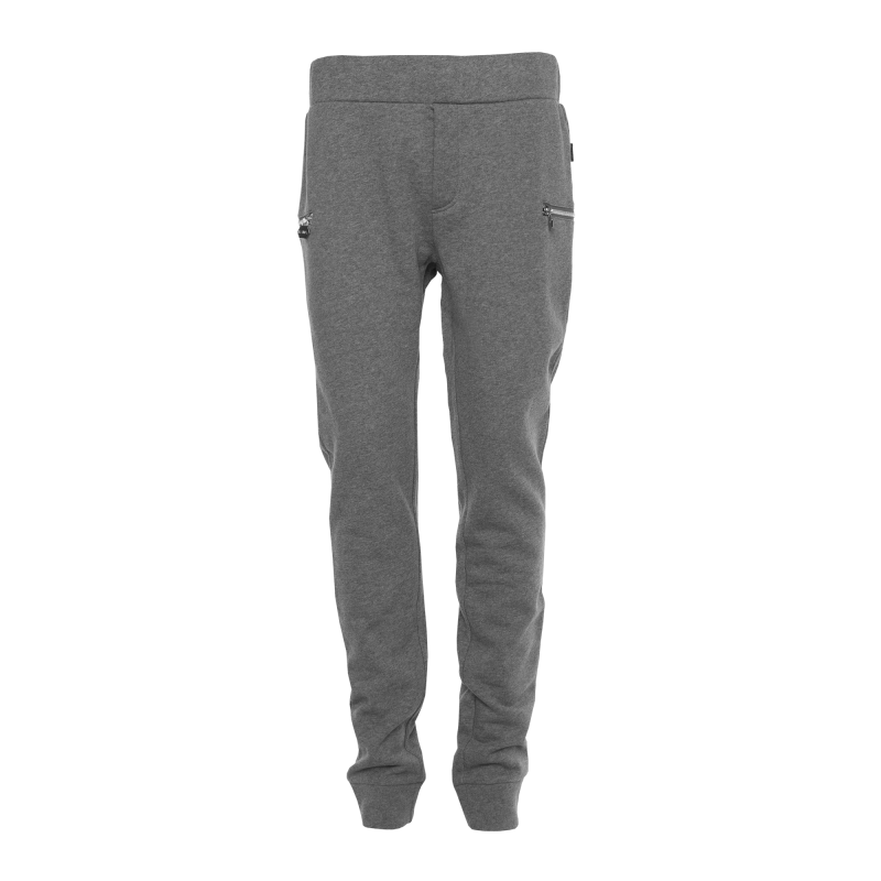 Grey Zipped Sweatpants Front