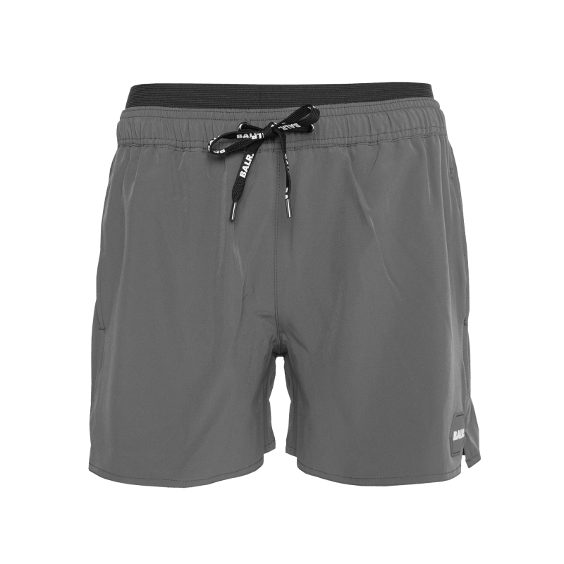 Badge Swim Shorts Grey