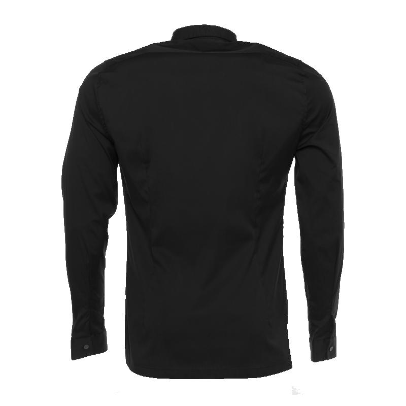 Black Slim-Fit Formal Shirt Back