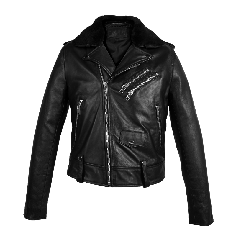 Leather Biker Jacket Front