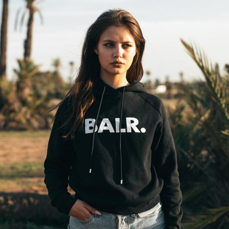 Levensstijl Women Brand Hoodie Zwart