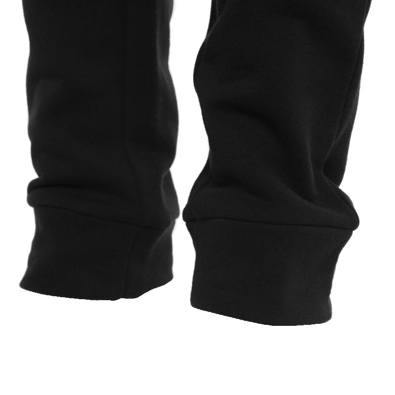Black Zipped Sweatpants Detail