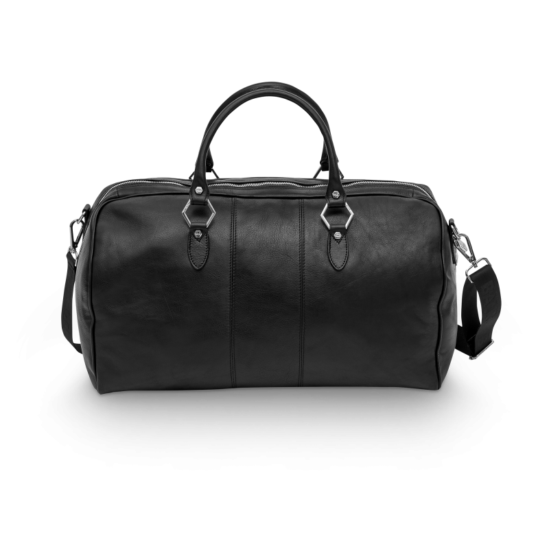 Leather Weekender Back