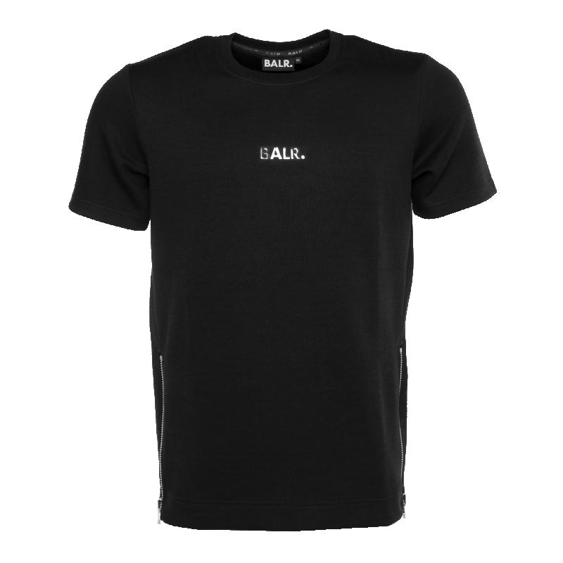 Short Sleeve Sweater Black Front