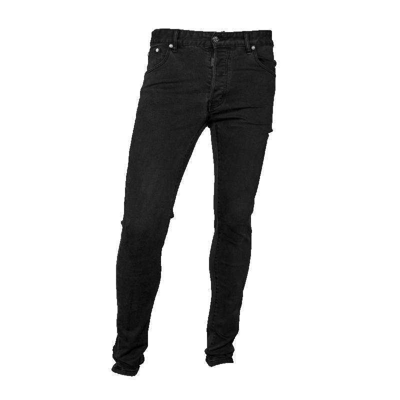 Black Denim Jeans Front