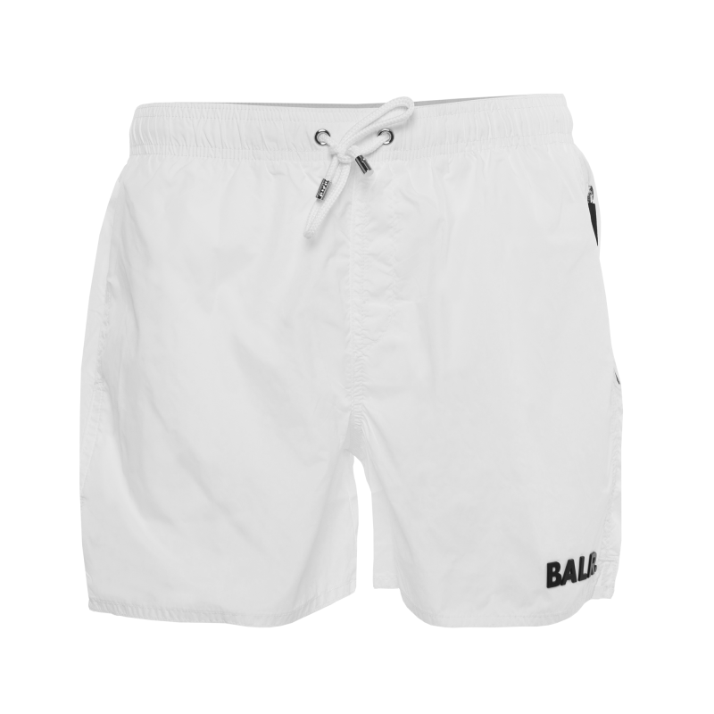 White Classic Swim Shorts Front