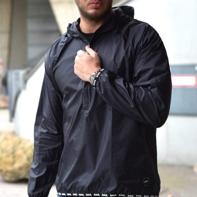 Nylon Windbreaker Black Lifestyle