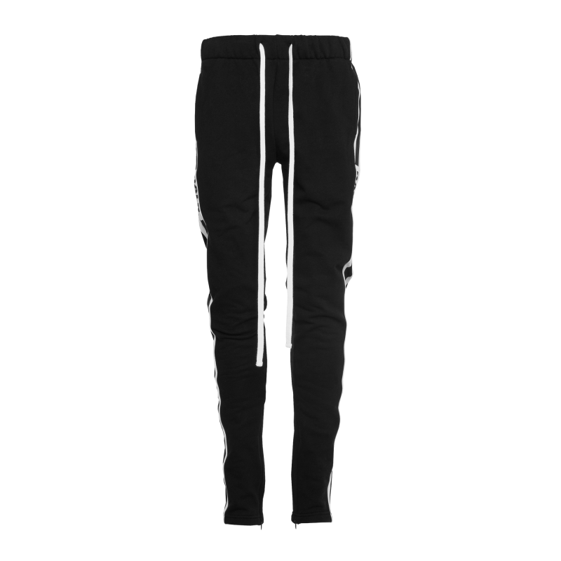 Webbing-Trimmed Sweatpants Black