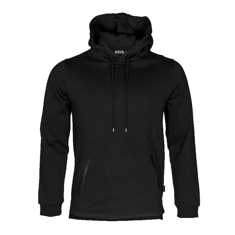 Black Pocket Hoodie Front