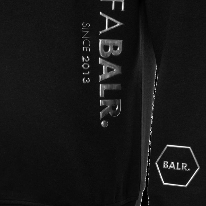 CC BALR. Straight Hoodie Zwart