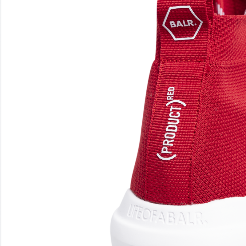 BALR. (BALR.)RED EE Premium Sock Sneakers V2 Red Detail 1