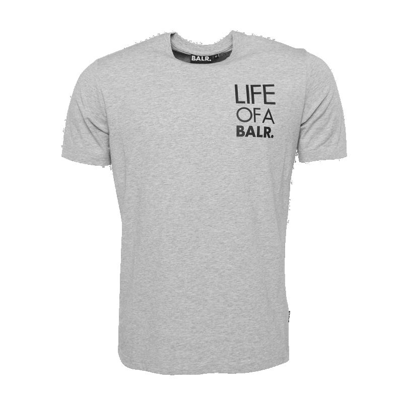 Life Of A BALR. Logo T-Shirt Grey