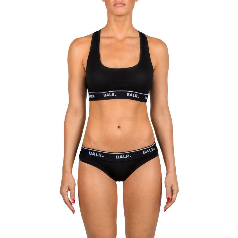 2-Pack Black Brief Front On Model